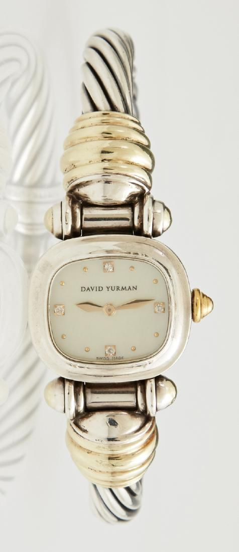 David Yurman 14K Yellow Gold and Sterling Ladies