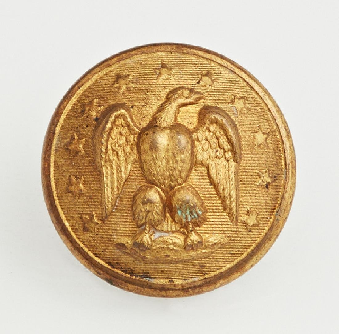 Confederate Officer's Brass Coat Button, c. 1860, the