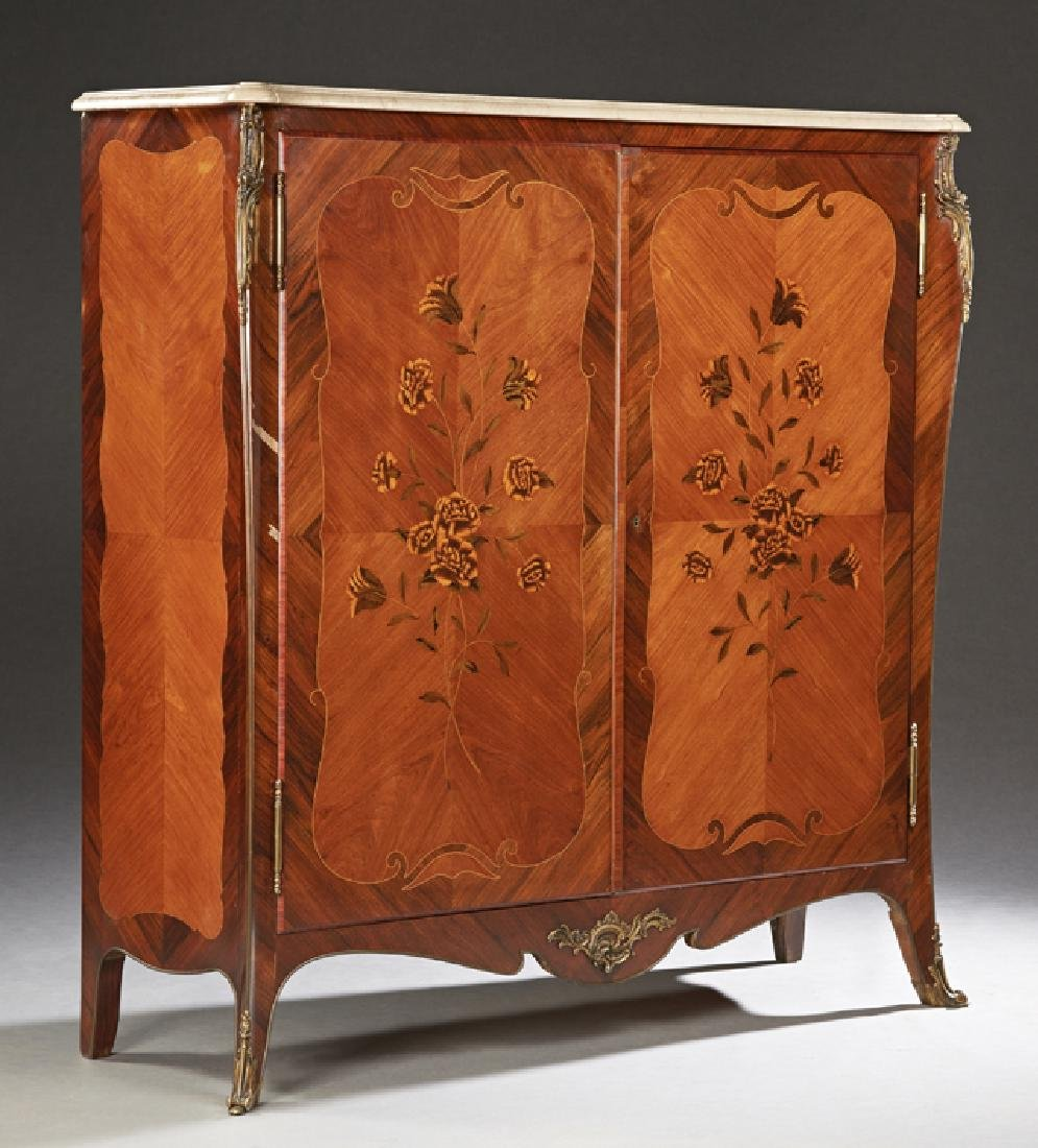 French Louis XV Style Ormolu Mounted Carved Kingwood