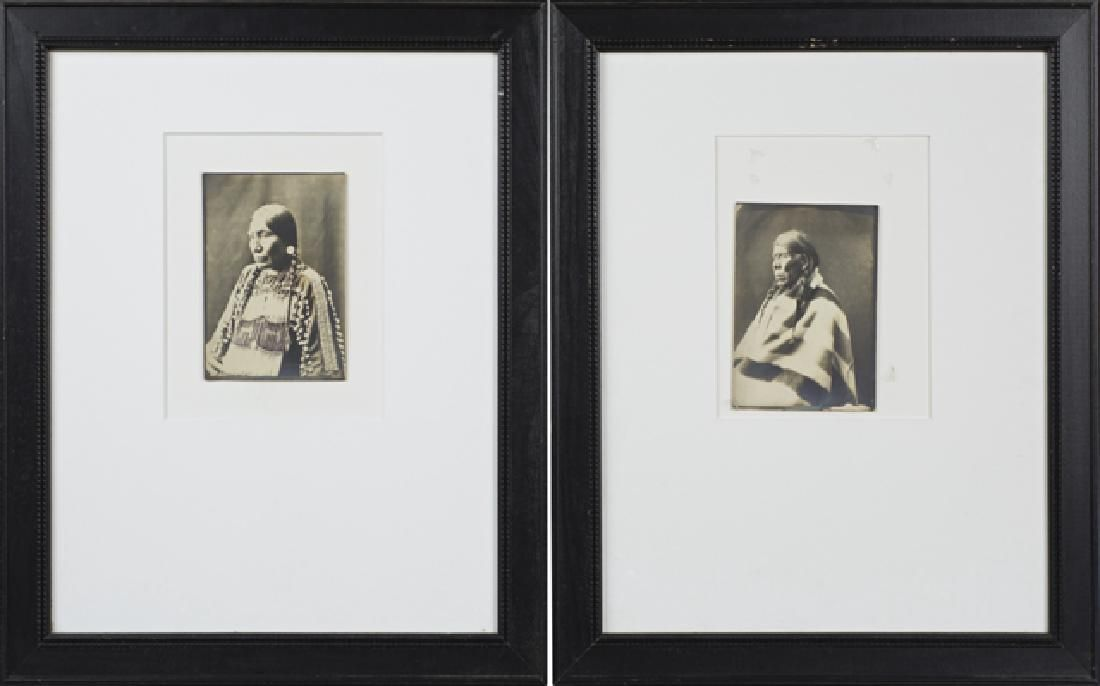 American School, Pair of Plains Indian Photographs,