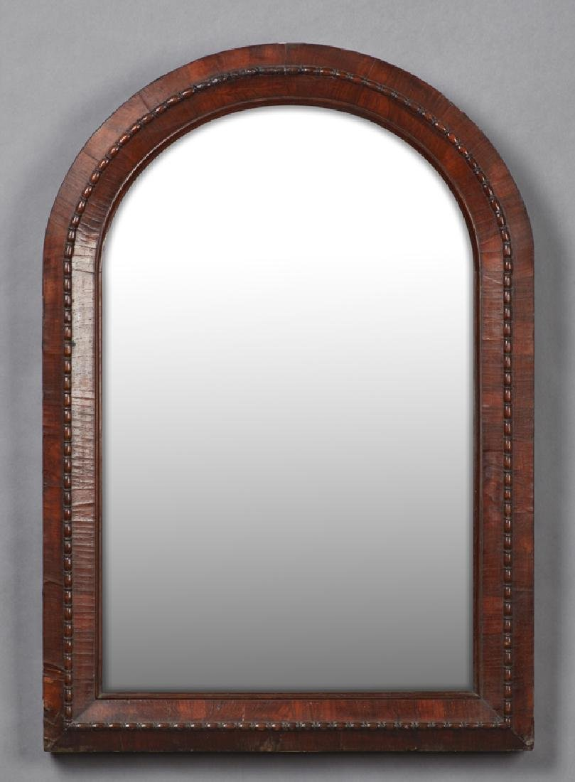 French Carved Mahogany Overmantle Mirror, 19th c., the