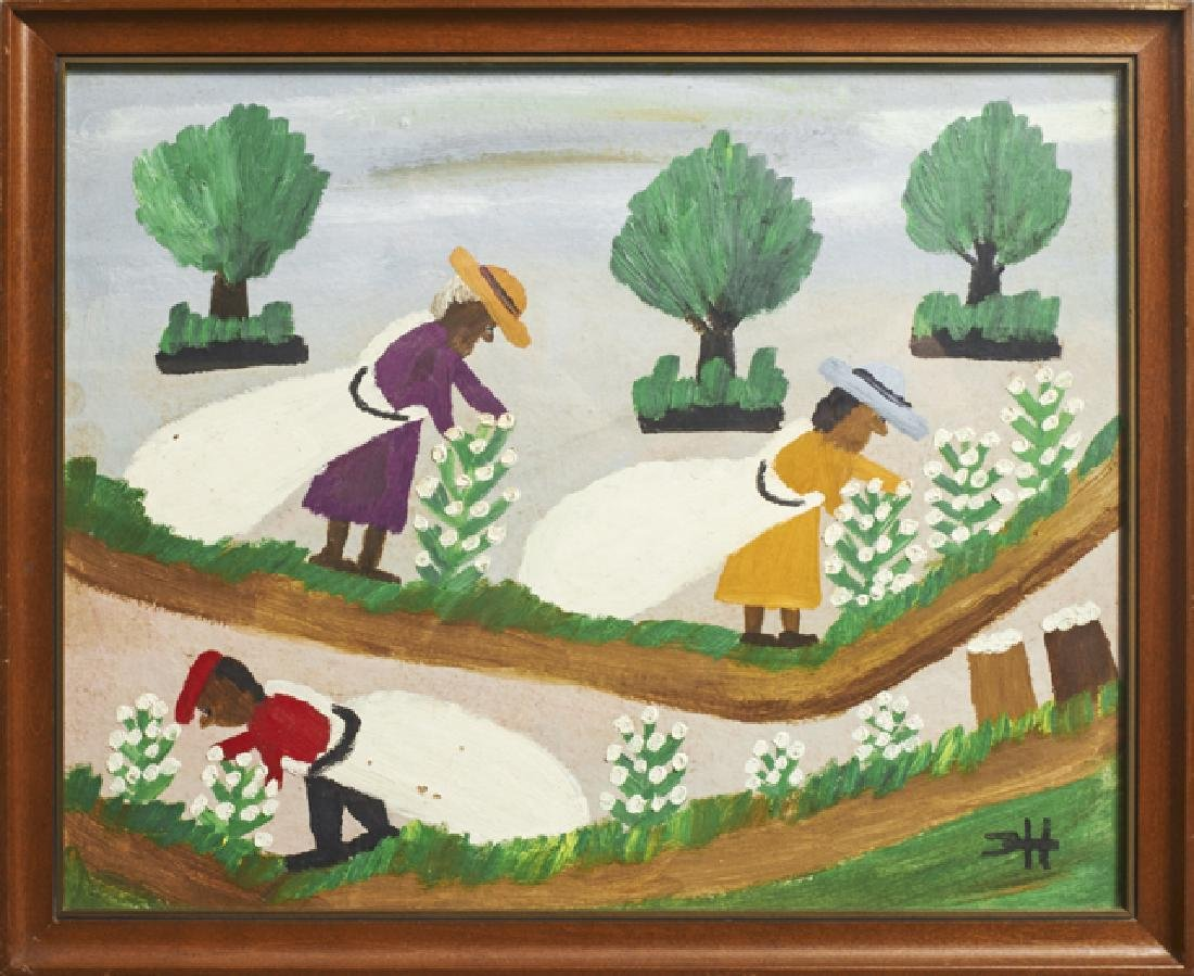 """Clementine Hunter (1887-1988), """"Cotton Pickers,"""""""