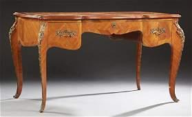 French Louis XV Style Inlaid Ormolu Mounted Desk