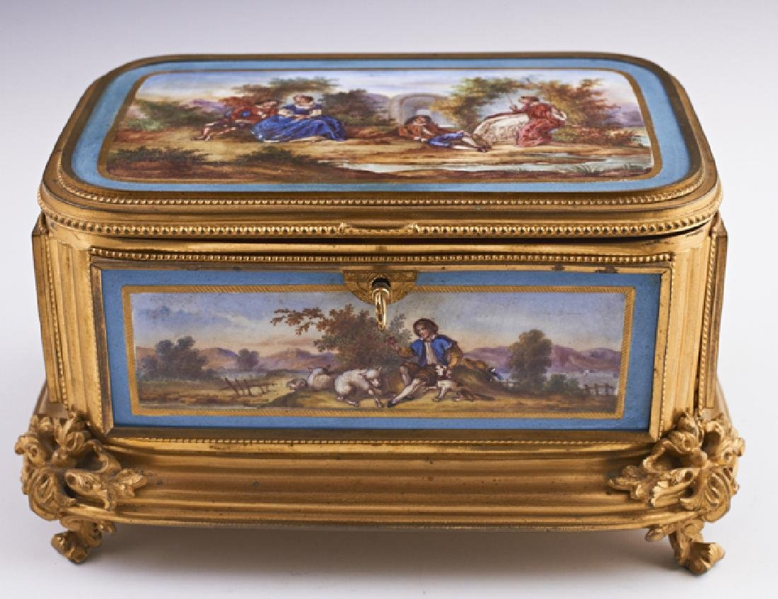 French Louis XV Style Gilt Bronze Mounted