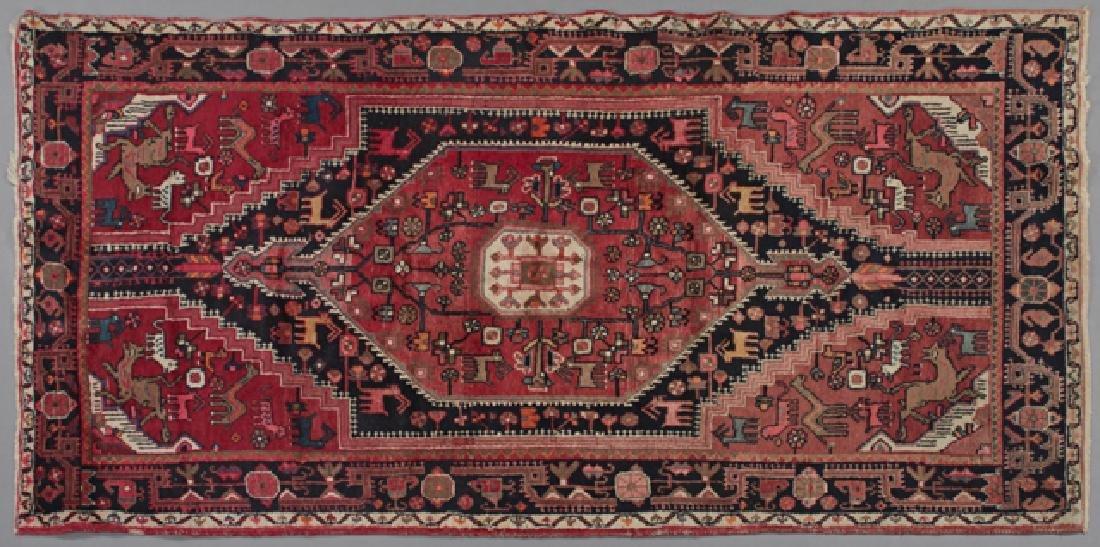 Persian Pictorial Carpet, 4' 9 x 8' 8.