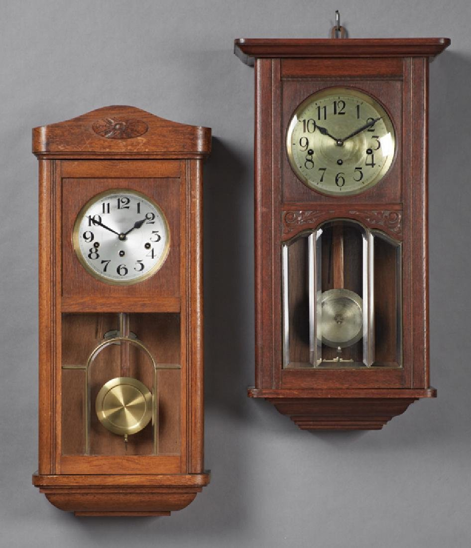 Chiming wall clocks waltham tempus fugit 31 day chime wall clock two carved oak westminster chiming wall clocks amipublicfo Image collections