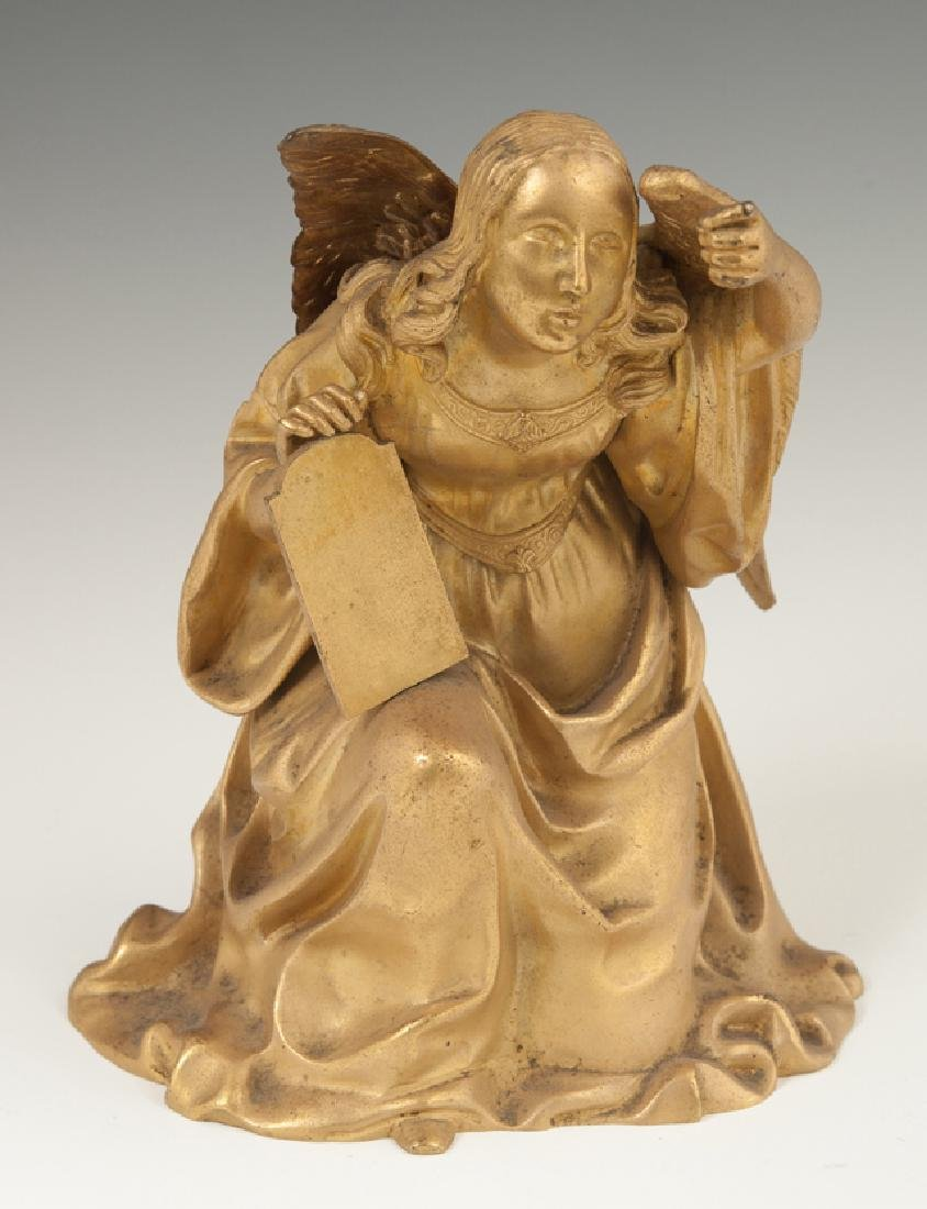 French Gilt Bronze Figure, 19th c., of a kneeling