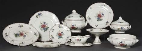 French Seventy Piece Set of Ceramic Dinnerware