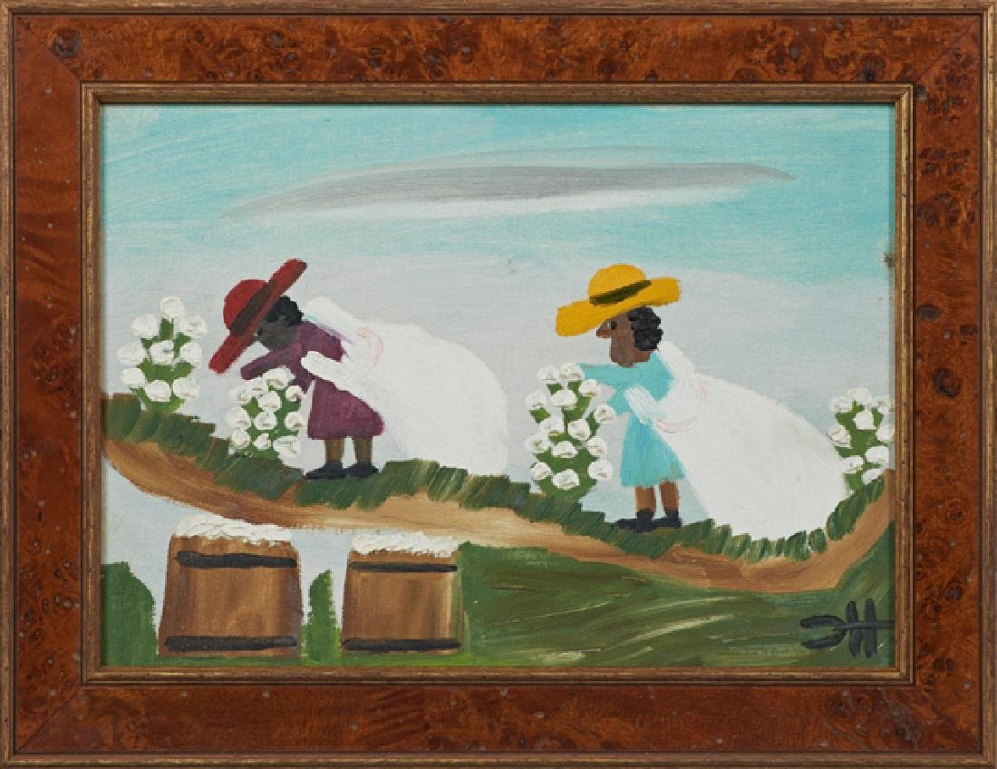 "Clementine Hunter (1887-1988), ""Cotton Pickers,"" c."