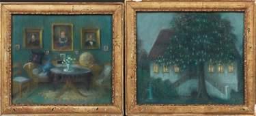 """American School, """"Parlor Interior,"""" and """"House Behind"""