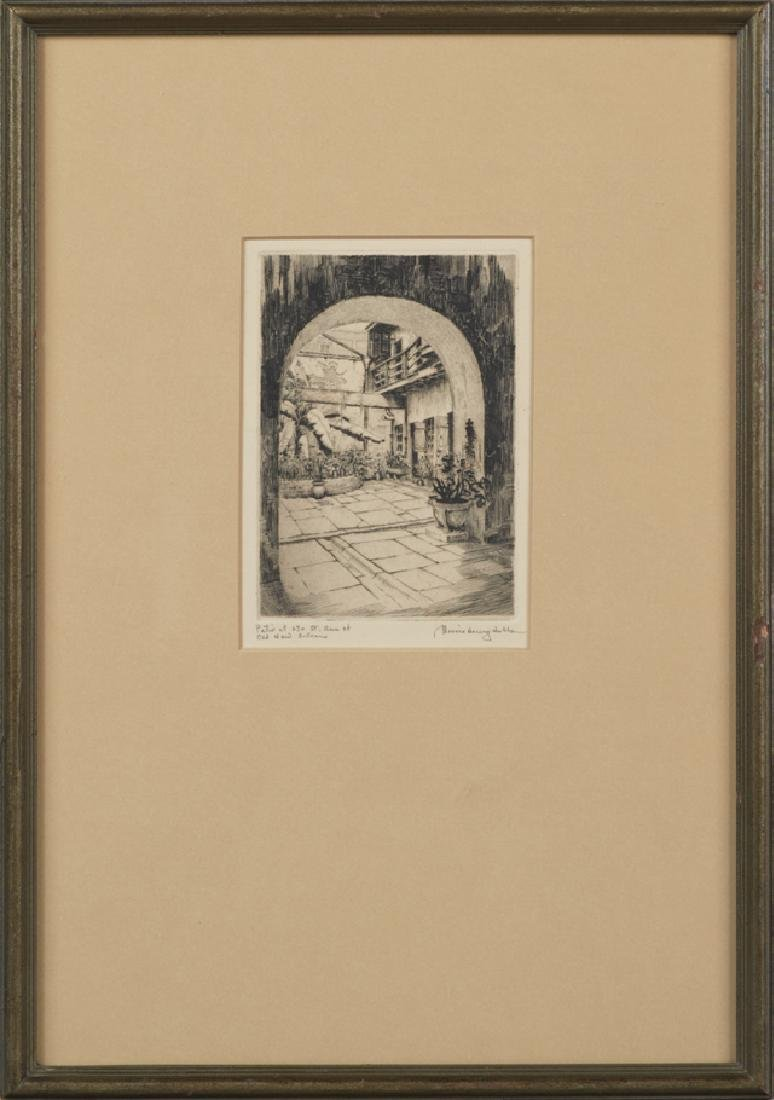 """Morris Henry Hobbs (1892-1967, New Orleans), """"Patio of"""