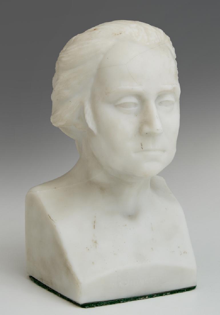 American Miniature Opaline Centennial Glass Bust of