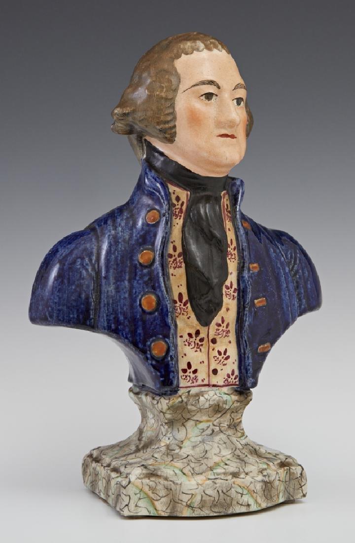 Staffordshire Bust of George Washington, 19th c.,