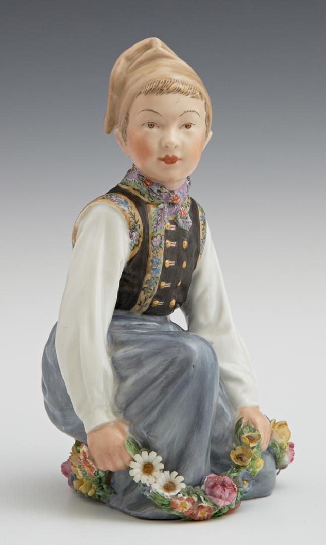 Royal Copenhagen Figurine of an Amager Boy, 20th c. ,