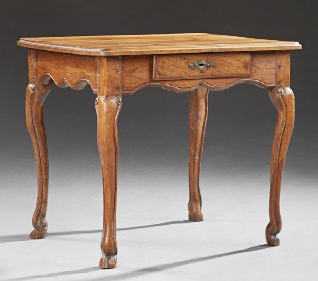 Louis XV Style Carved Walnut Side Table, 19th c., the