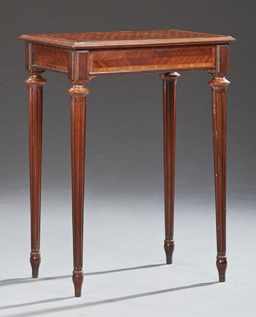French Louis XVI Style Parquetry Inlaid and Banded