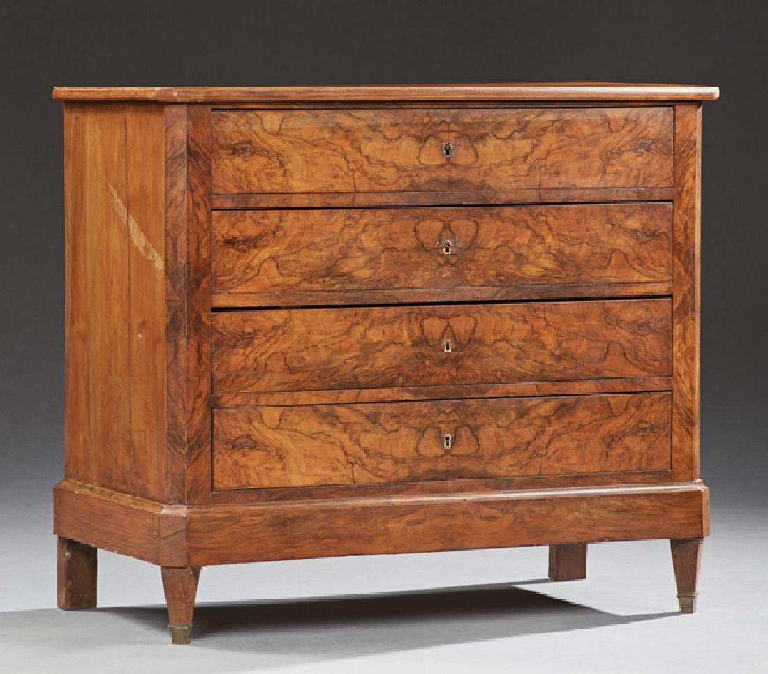French Louis Philippe Carved Walnut Commode, 19th c.,