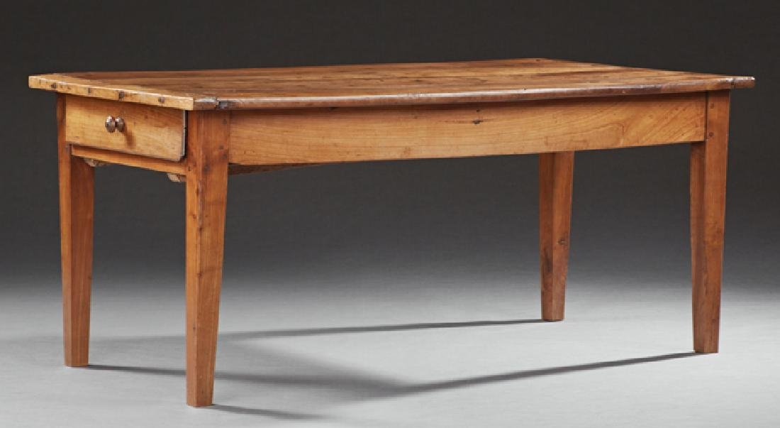 French Provincial Fruitwood Farmhouse Table, 19th c.,
