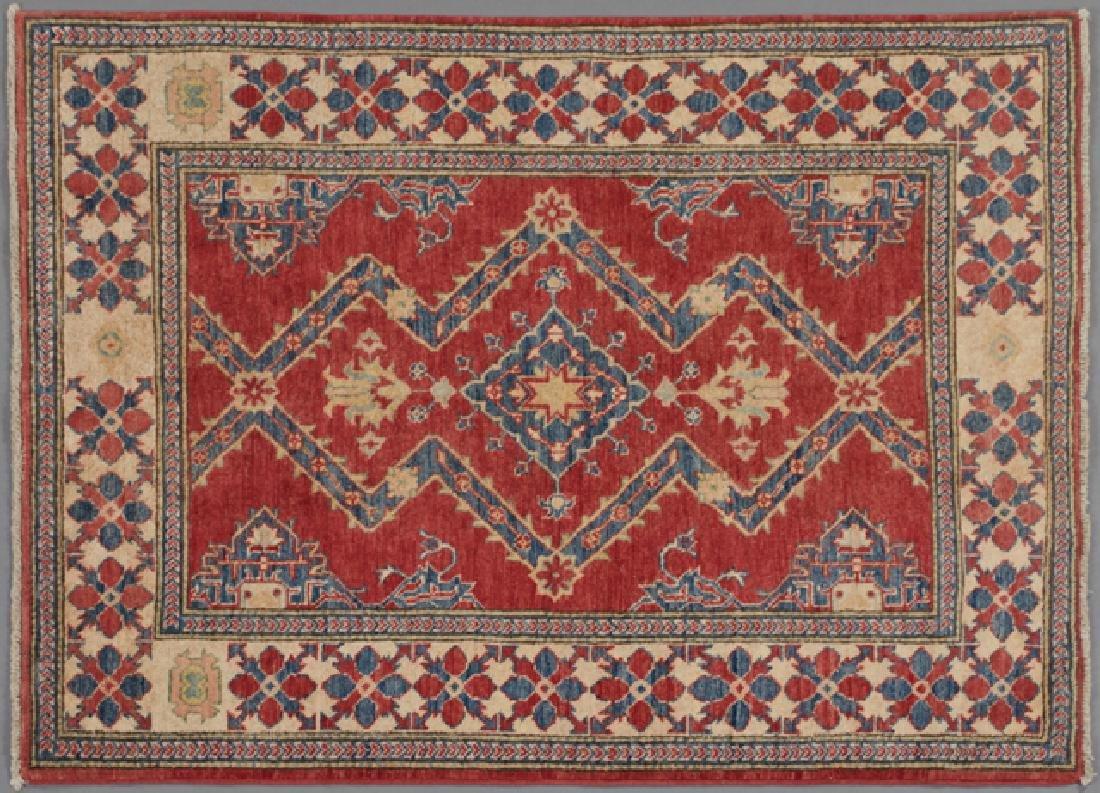 Uzbek Kazak Carpet, 4' 1 x 5'.