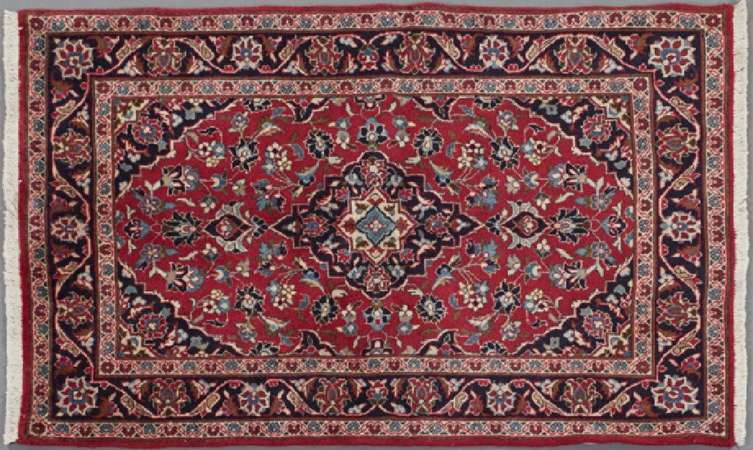 Semi-Antique Persian Kashan Carpet, 3' 3 x 5'.