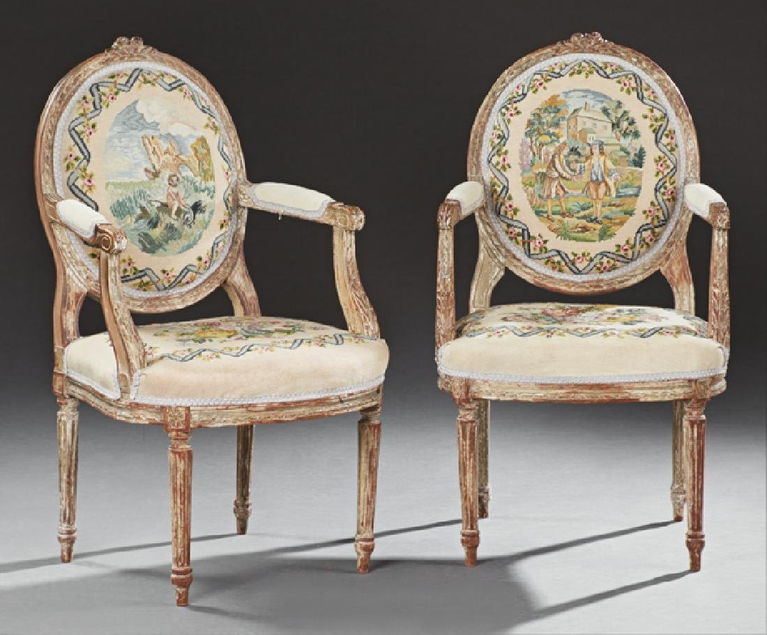 Pair of French Louis XVI Style Carved Giltwood