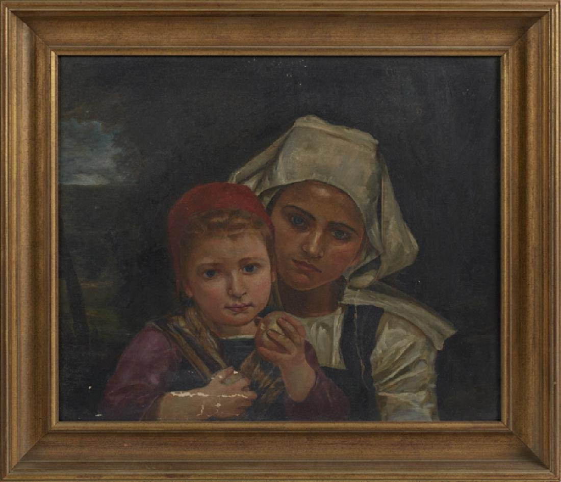 "Dutch School, ""Mother and Daughter,"" c. 1900, oil on"