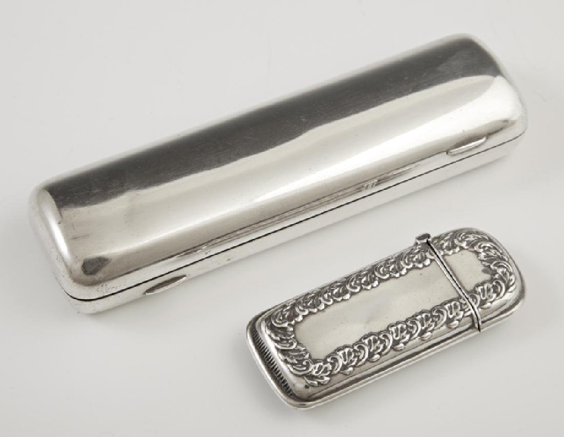 Two Sterling Smoking Items, early 20th c., consisting