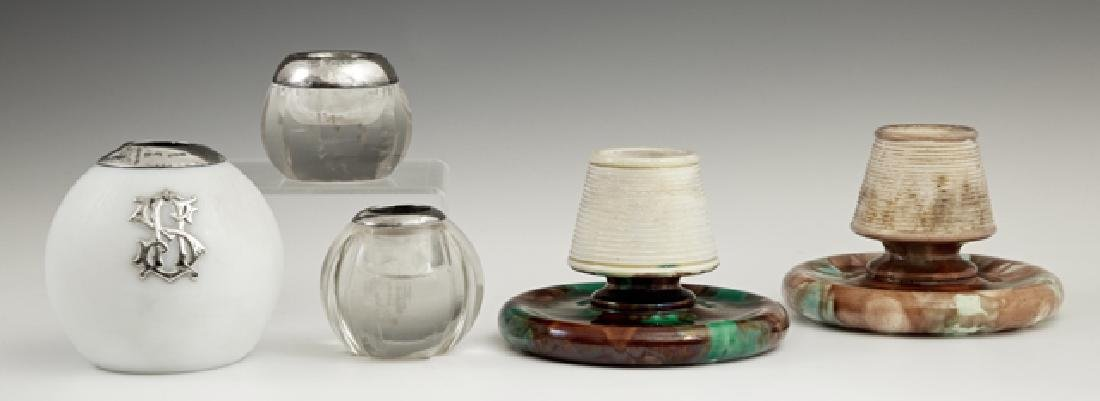 Group of Five Smoker's Accessories, late 19th c.,