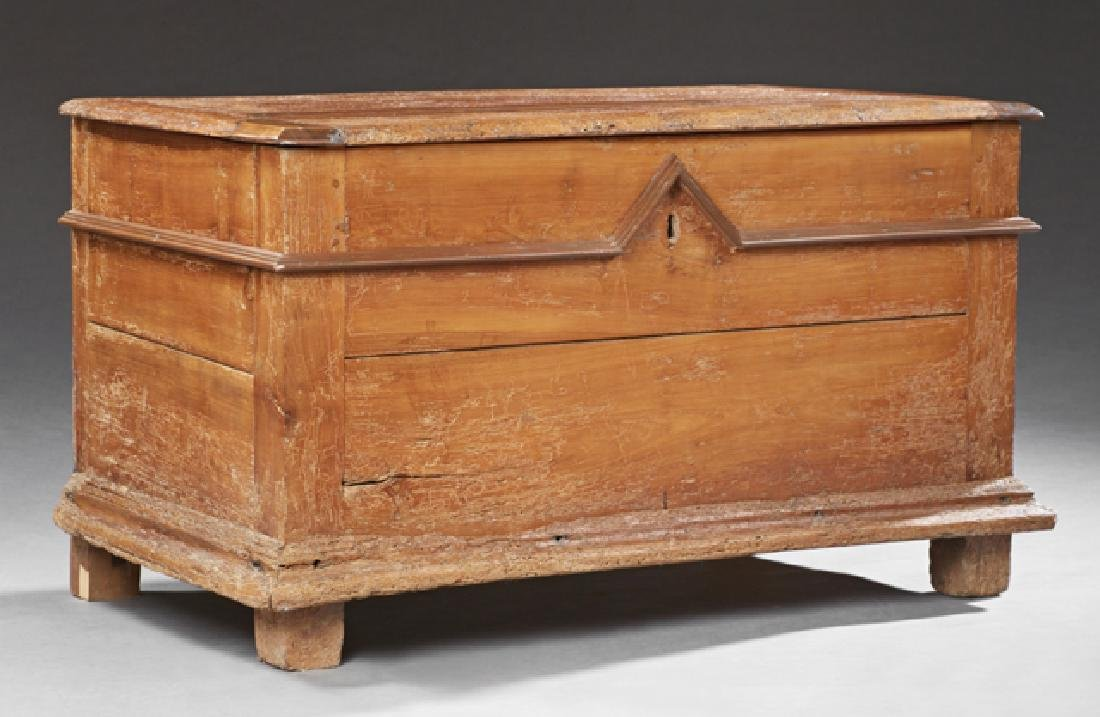 French Provincial Carved Cherry Coffer, early 19th c.,