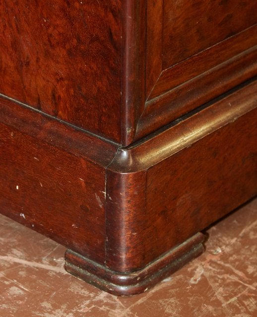 French Louis Philippe Style Carved Mahogany Marble Top - 8