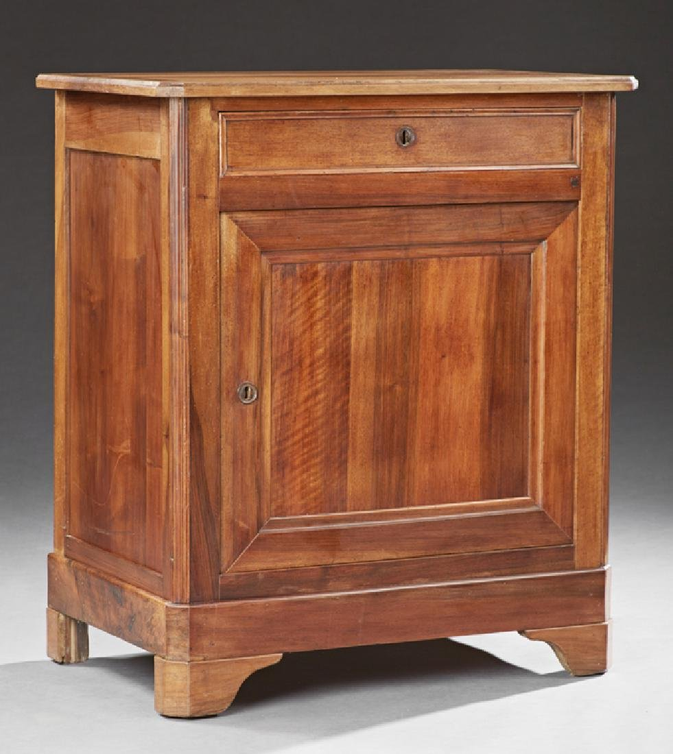French Louis Philippe Carved Walnut Confiturier, c.