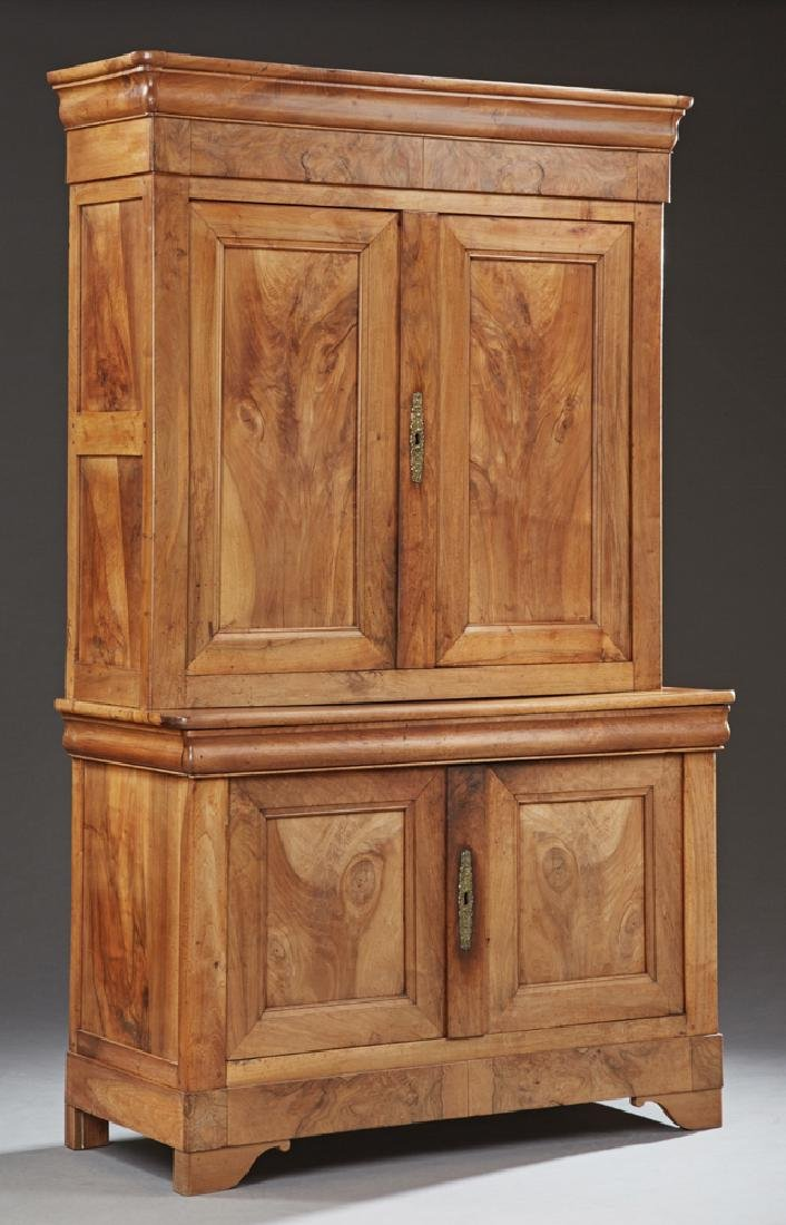 Louis Philippe Style Carved Walnut Buffet a Deux Corps,