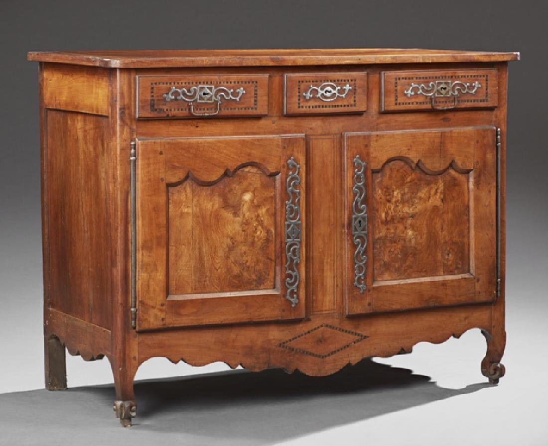 French Provincial Louis XV Style Inlaid Cherry