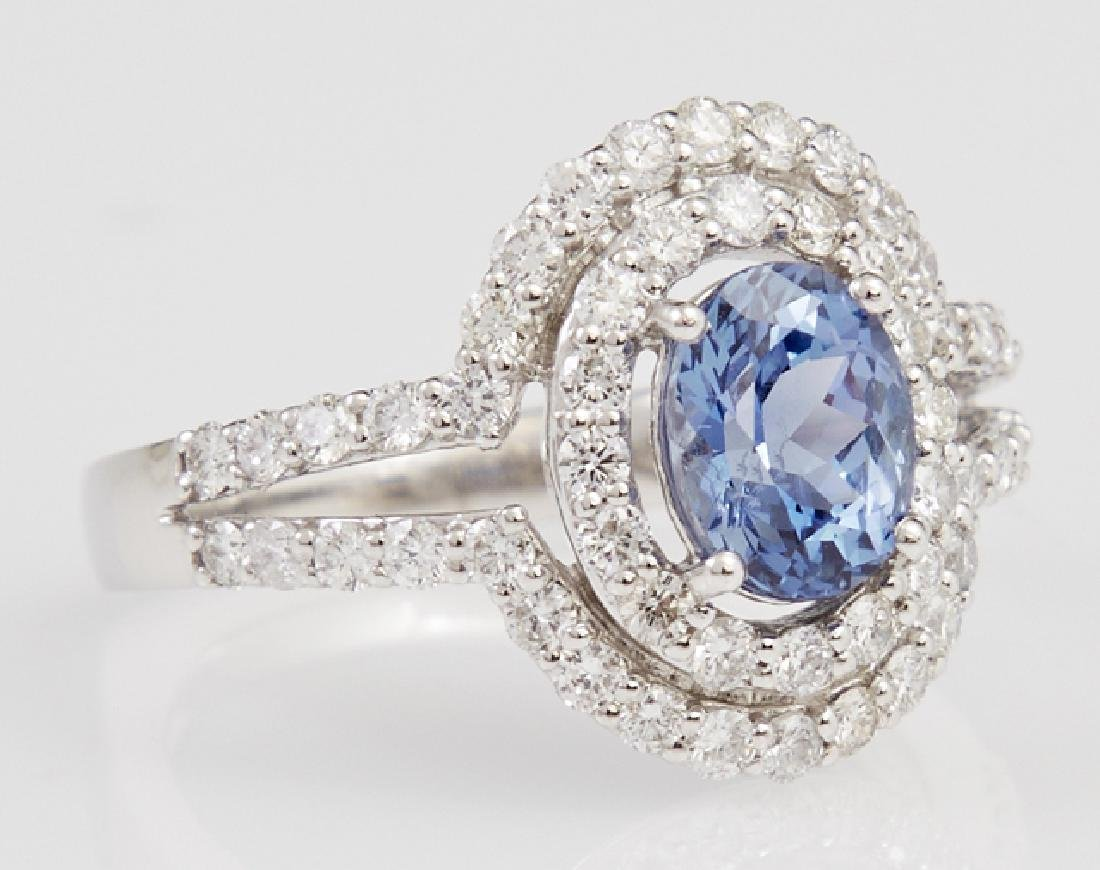 Lady's Platinum Dinner Ring, with an oval 1.61 carat