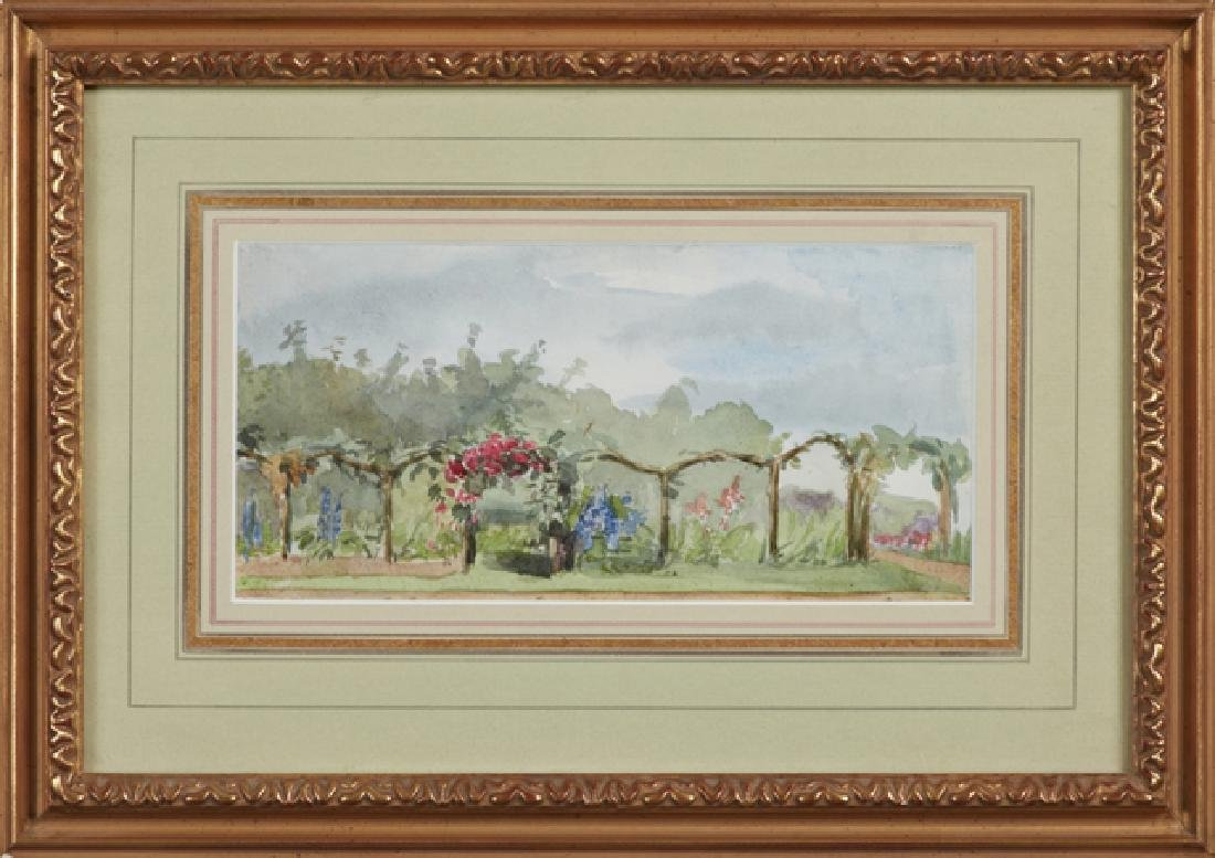 "American School, ""Trellis in the Garden,"" early 20th"