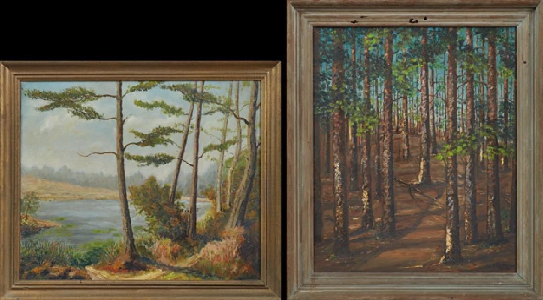 "Two Paintings- Lila Norma Shelby (1900- ), ""Louisiana"