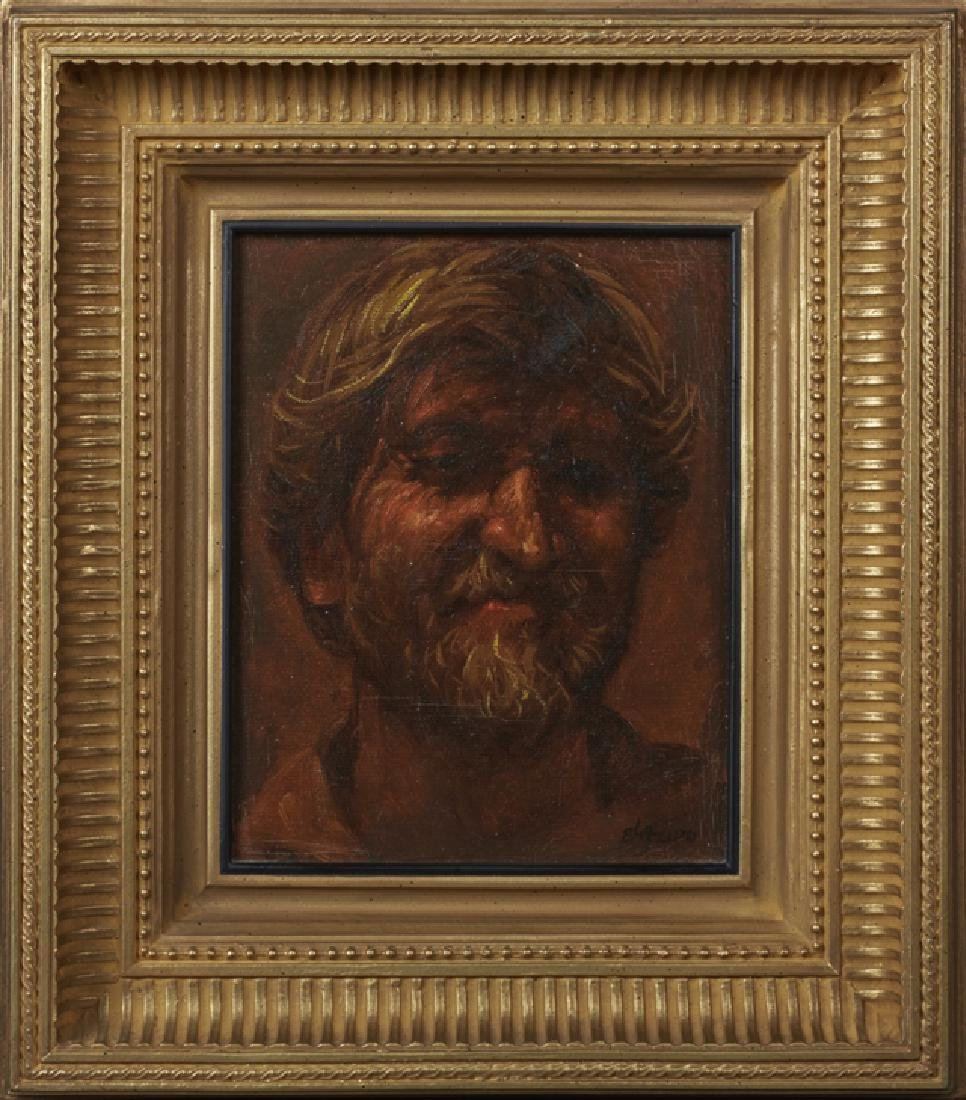 "G. Lazido, ""Portrait of a Young Blonde Man,"" 20th c.,"