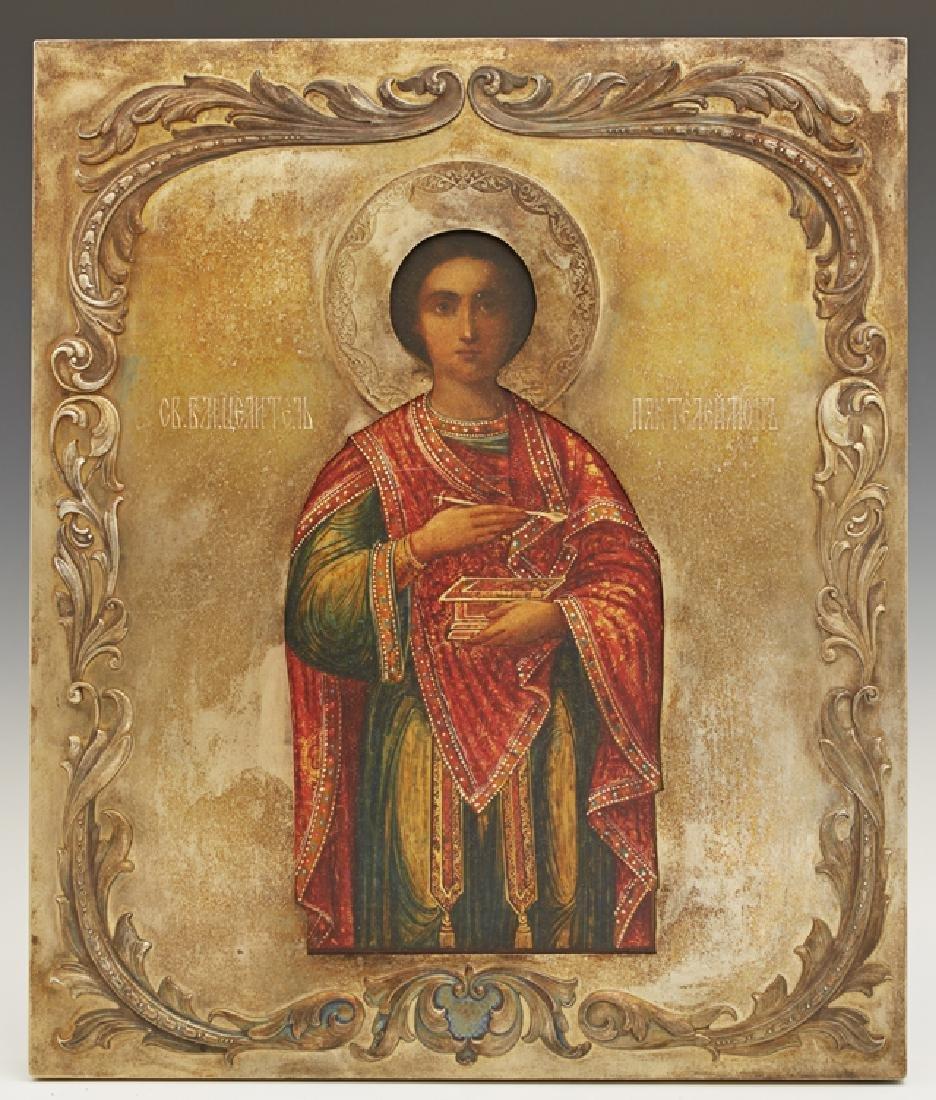 Russian Icon of Saint Panteleimon, 1908-1917, Moscow,
