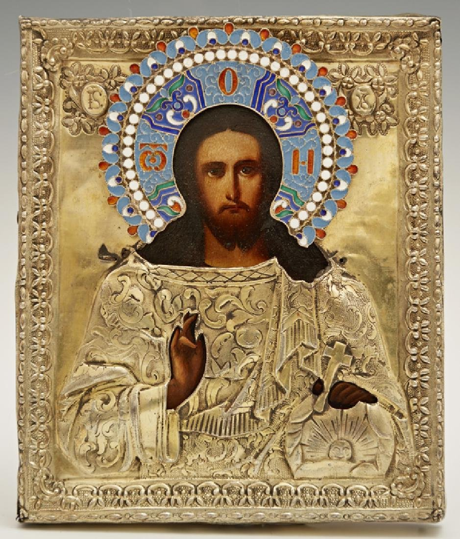 Russian Icon of Christ Pantocrator, 1841, St.