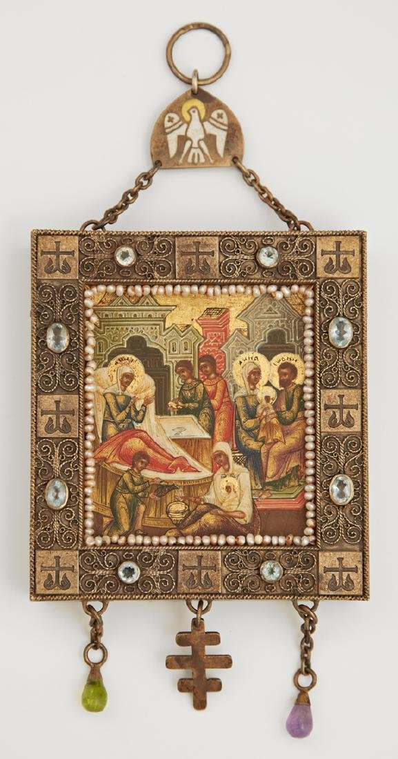 Russian Panagia of the Nativity of The Virgin,