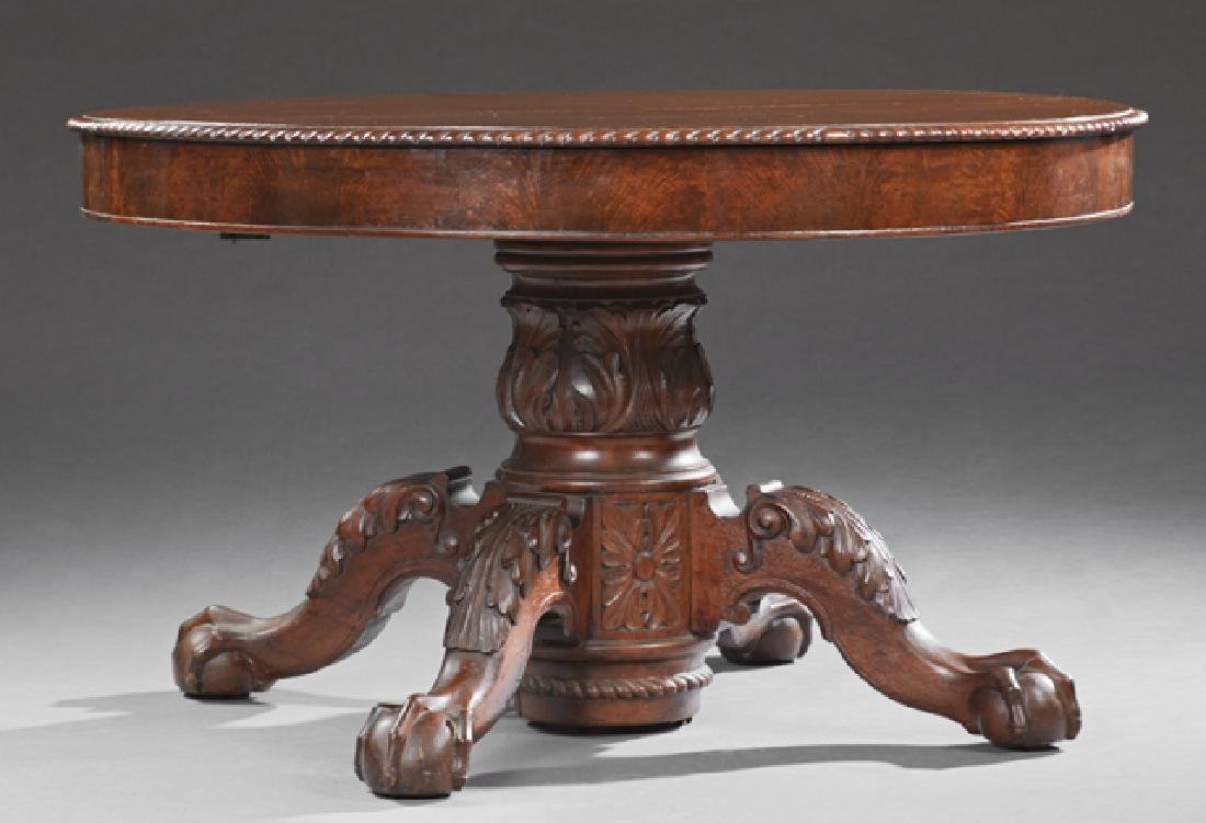 American Carved Mahogany Chippendale Style Banquet