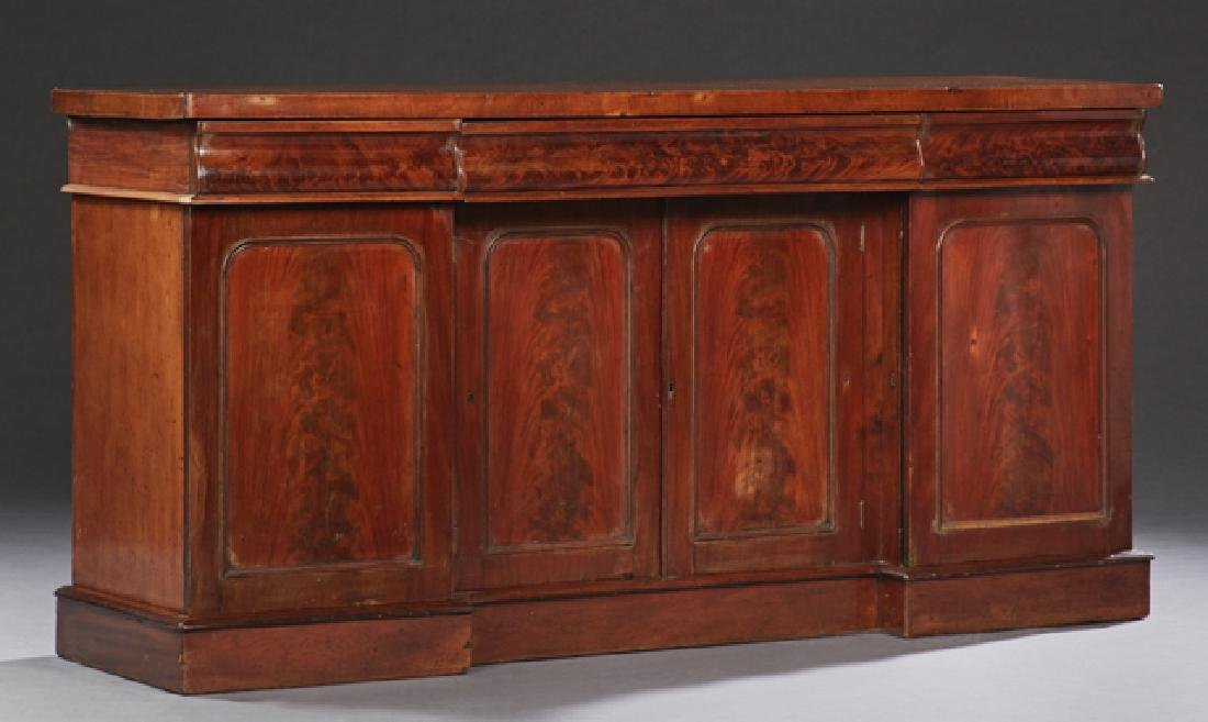 English William IV Carved Mahogany Sideboard, mid 19th