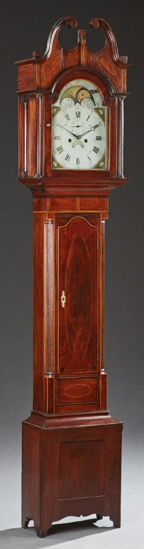 American Federal Inlaid Mahogany Tallcase Clock, early