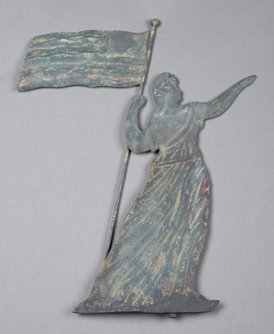 American Lady Liberty Iron Weathervane, early 20th c.,
