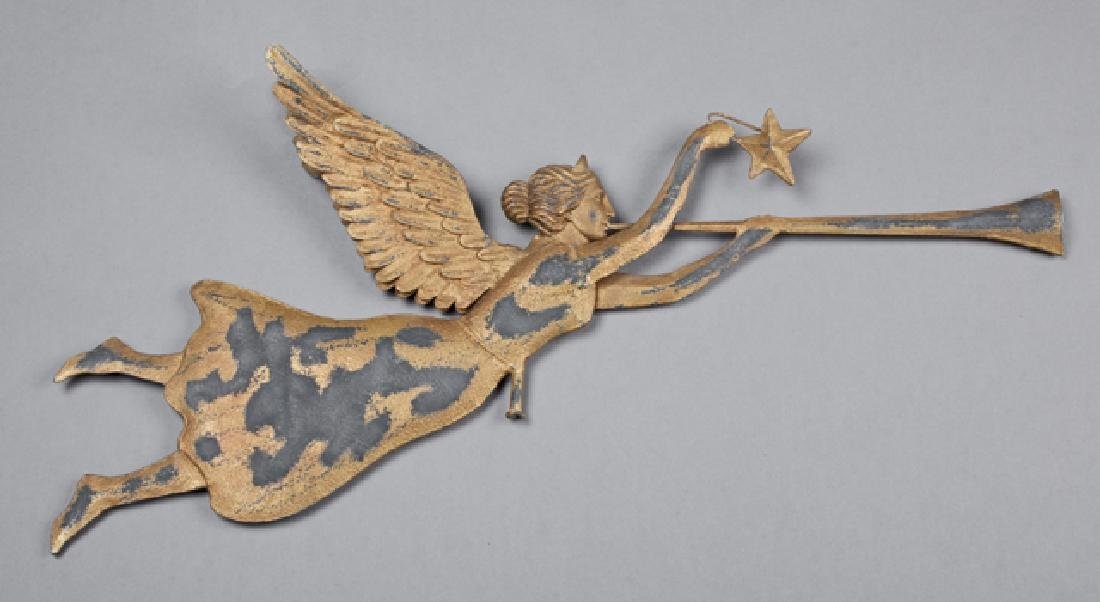American Sheet Iron Angel Weathervane, late 19th c.,