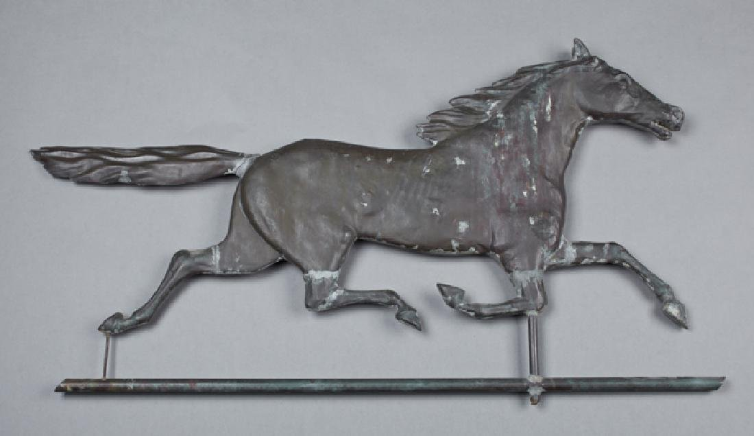 Copper Running Horse Weathervane, late 19th c.,