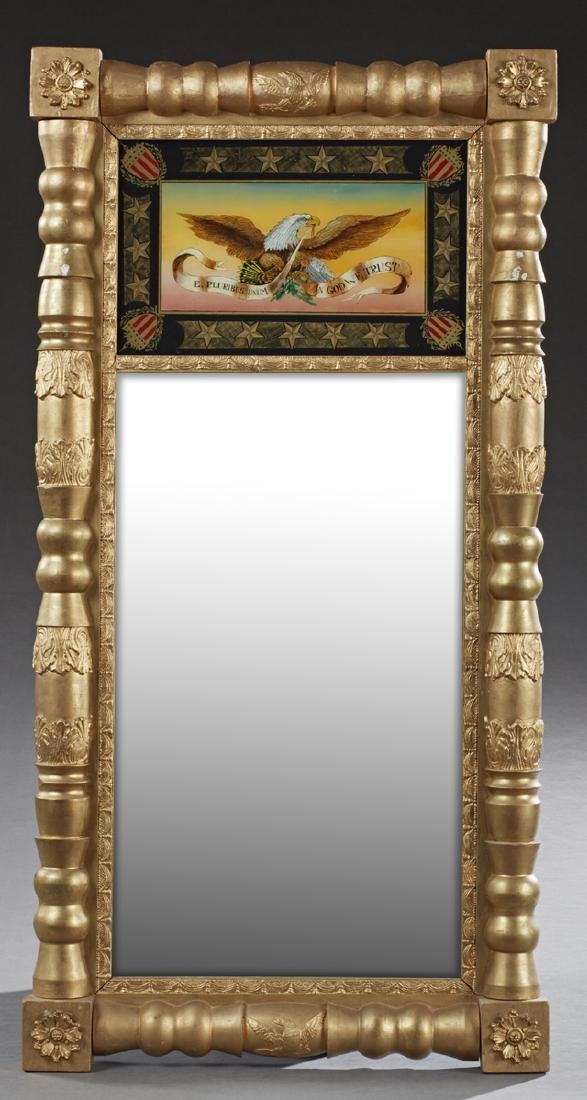 American Federal Gilt and Gesso Landscape Mirror, 19th