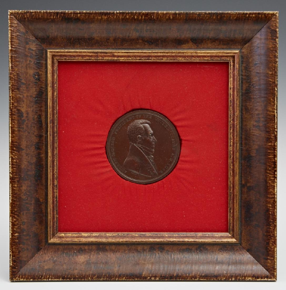 Rare Andrew Jackson Bronze Indian Peace Medal, 1829,