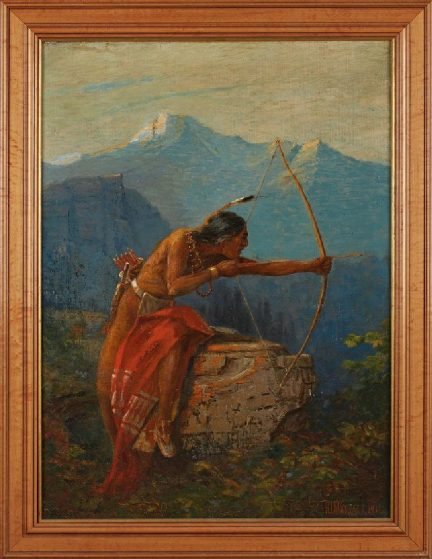"H. Irving Marlatt (1860-1925, American), ""Native"