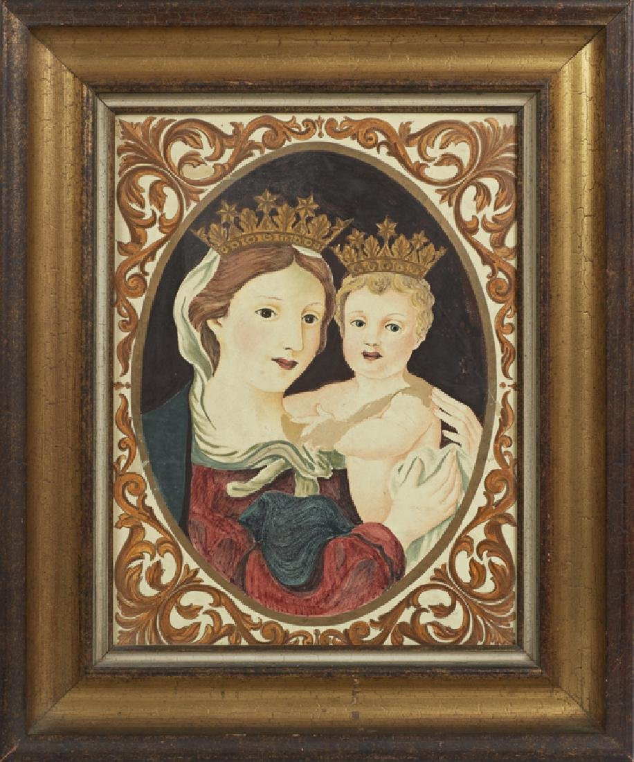 "Continental School, ""Madonna and Child,"" early 20th c.,"